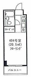 東京都渋谷区円山町の賃貸マンションの間取り