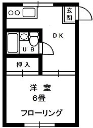 東京都渋谷区代々木4丁目の賃貸アパートの間取り