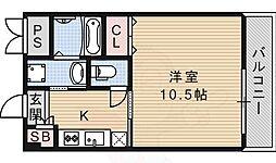大阪モノレール彩都線 彩都西駅 徒歩5分の賃貸マンション 3階1Kの間取り