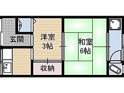 [一戸建] 大阪府大阪市城東区今福南2丁目 の賃貸【/】の間取り