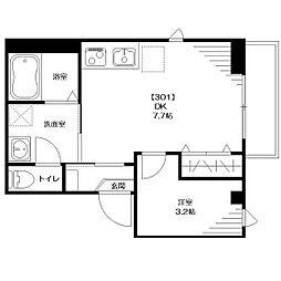 仮称:大和田Tマンション[301号室]の間取り