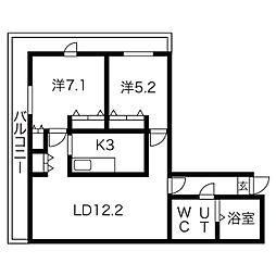 AMSタワー中島[904号室]の間取り