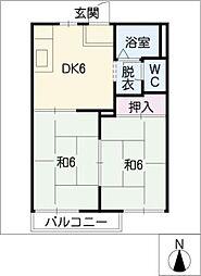 リジェール伊藤[1階]の間取り