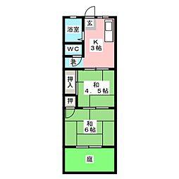 パステルII[1階]の間取り