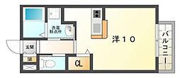 コンフォールヴィル木田元宮[2階]の間取り