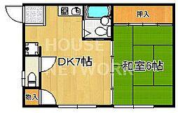 京都府京都市中京区妙満寺前町の賃貸アパートの間取り