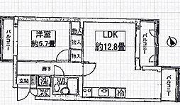 ライオンズマンション鴨川北[218号室号室]の間取り