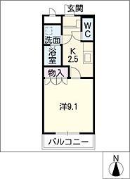 エスフィールドアサマ[2階]の間取り