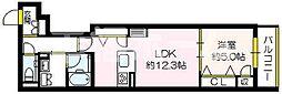 (仮称)セジュール関目6番館 3階1LDKの間取り