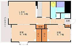 マーベラス2[2階]の間取り