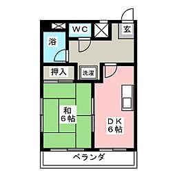 コーポひら野[2階]の間取り