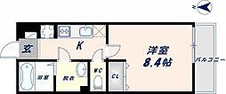 リブリ・メゾン・ド・ユアーズ 2階1Kの間取り