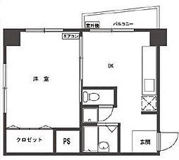 ハイツ笹塚[1004号室号室]の間取り