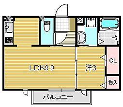 OKAZEN西駅前[3階]の間取り