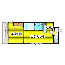 北海道札幌市東区北十一条東4丁目の賃貸マンションの間取り