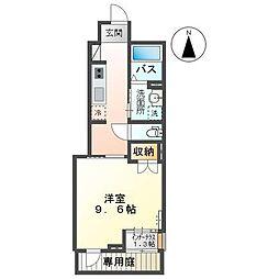 高松琴平電気鉄道琴平線 太田駅 徒歩4分の賃貸アパート 1階1Kの間取り