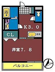 エクレール(本町)[105号室]の間取り