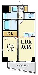 福岡市地下鉄七隈線 薬院大通駅 徒歩7分の賃貸マンション 10階1LDKの間取り