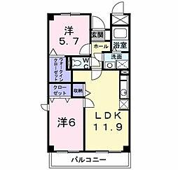 レフィナ−ド壱番館[2階]の間取り