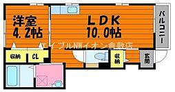 JR山陽本線 中庄駅 徒歩11分の賃貸アパート 1階1LDKの間取り