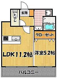 箱崎 NATSUME BUILD[3階]の間取り