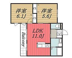 S-GONZEM[3階]の間取り