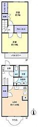 [テラスハウス] 千葉県船橋市坪井東5丁目 の賃貸【/】の間取り