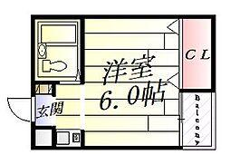 フルーレ千里丘[2階]の間取り