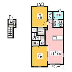 クレアII[2階]の間取り