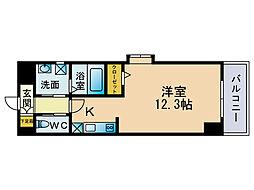ウェルカム県庁口[2階]の間取り