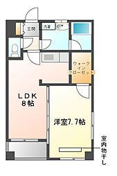 愛知県名古屋市天白区原3丁目の賃貸マンションの間取り