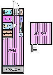 マリン・メゾン[2階]の間取り