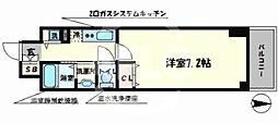 JPレジデンス難波南 11階1Kの間取り