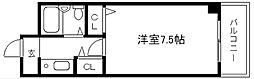 レジデンスオークラ[C212号室]の間取り