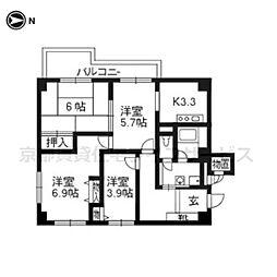 御池パークマンション 502[5階]の間取り