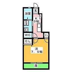 RELUXIA 北棟[1階]の間取り