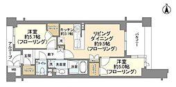 ジオ目黒 7階2LDKの間取り