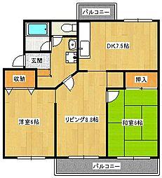 新金岡B住宅21棟[4階]の間取り