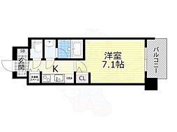 スプランディッド新大阪5 4階1Kの間取り
