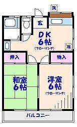 ハイツ竹沢[201号室]の間取り