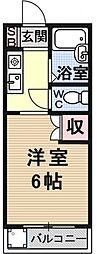サンシーガル2[205号室号室]の間取り