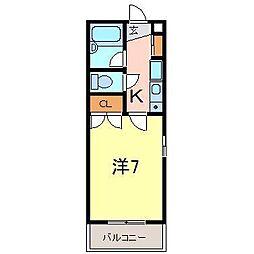 ファミール井ヶ谷B[201号室]の間取り
