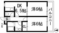 兵庫県宝塚市山本丸橋1丁目の賃貸マンションの間取り