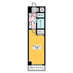 A・City朝日町[6階]の間取り