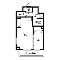 仙台市営南北線 北四番丁駅 徒歩24分の賃貸マンション 1階1LDKの間取り