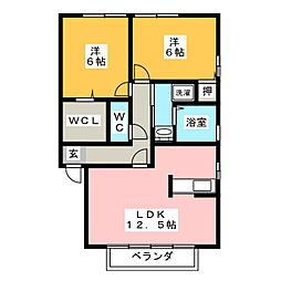 ロジュマンラフィネ[2階]の間取り