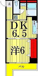 関屋ステーションハイツ[715号室]の間取り