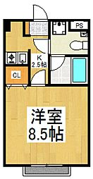 アネックス栄町[1階]の間取り