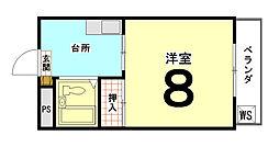 ハイツ華園[105号室]の間取り