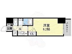 Osaka Metro御堂筋線 本町駅 徒歩3分の賃貸マンション 10階1Kの間取り